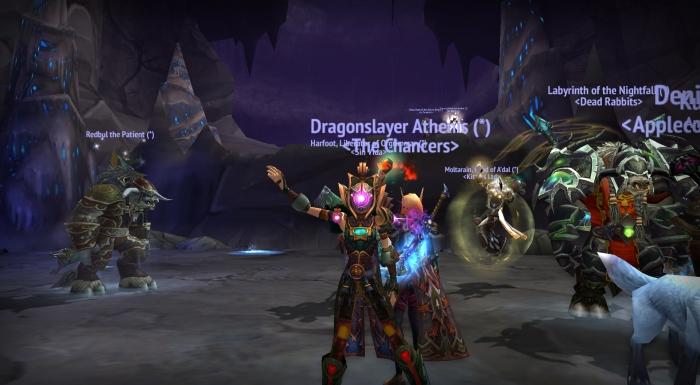have a random dancing blood elf hunter. because of reasons xD
